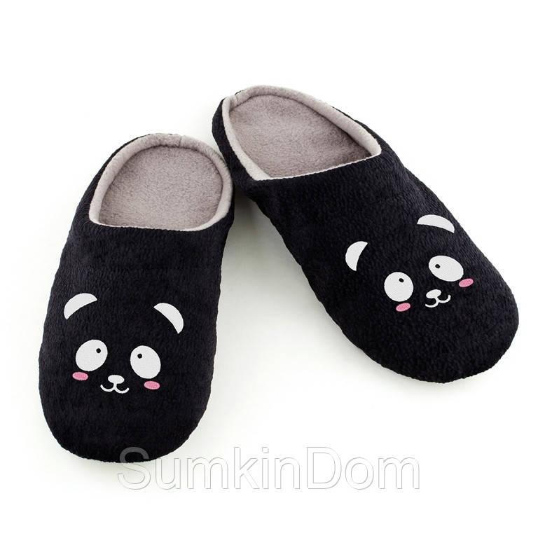Домашние тапочки шлепки Панда багира