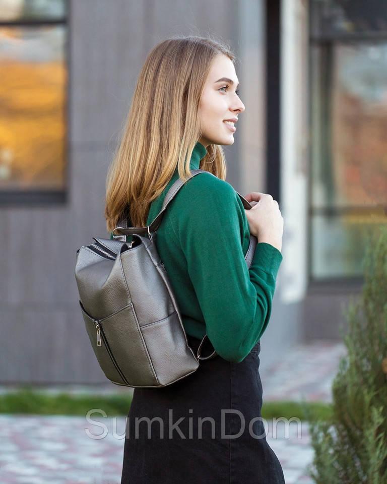 Rjet рюкзак без клапана графит натурель