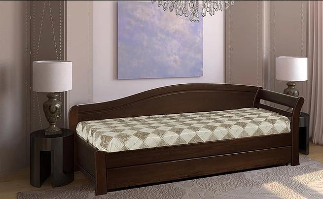Ліжко односпальне з натурального дерева в спальню/дитячу Мілана 2 90х190 Millimeter
