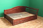 Ліжко односпальне з натурального дерева в спальню/дитячу Мілана 2 90х190 Millimeter, фото 2