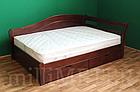 Ліжко односпальне з натурального дерева в спальню/дитячу Мілана 2 90х190 Millimeter, фото 3