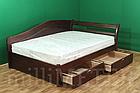 Ліжко односпальне з натурального дерева в спальню/дитячу Мілана 2 90х190 Millimeter, фото 4