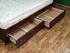 Ліжко односпальне з натурального дерева в спальню/дитячу Мілана 2 90х190 Millimeter, фото 5