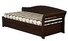 Ліжко односпальне з натурального дерева в спальню/дитячу Мілана 2 90х190 Millimeter, фото 6