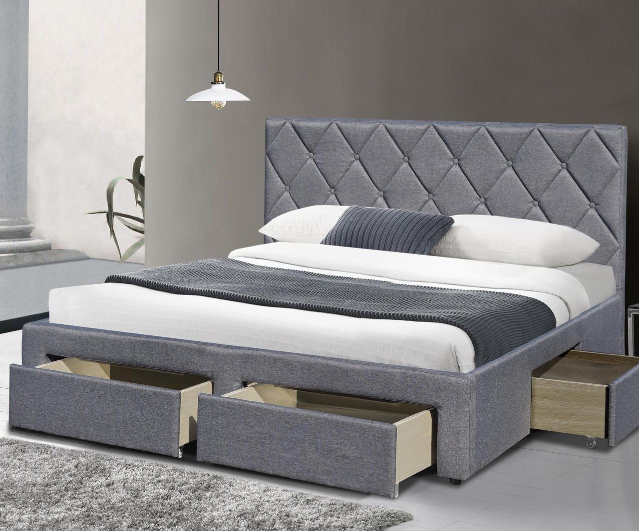 Ліжко двоспальне в спальню Польша Betina 160*200 Halmar
