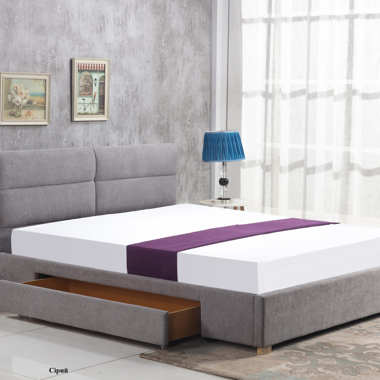 Ліжко двоспальне в спальню Польша Merida 160*200 Halmar