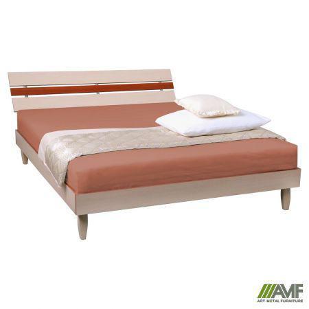 Ліжко (Кровать) Прагматик з ДСП 160х200 микс дуб молочный+яблоня AMF