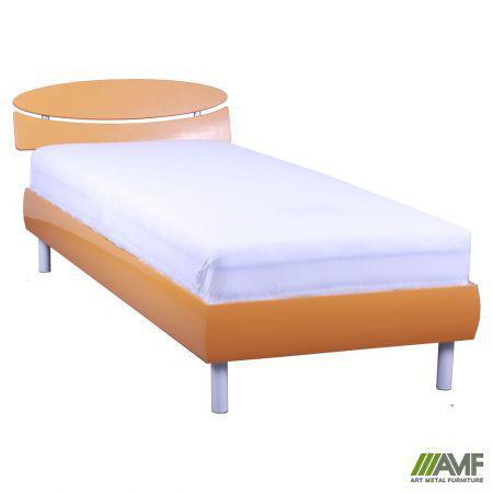 Ліжко (Кровать) Кенді 80х200 оранж металік, ніжки букові циліндр білі AMF