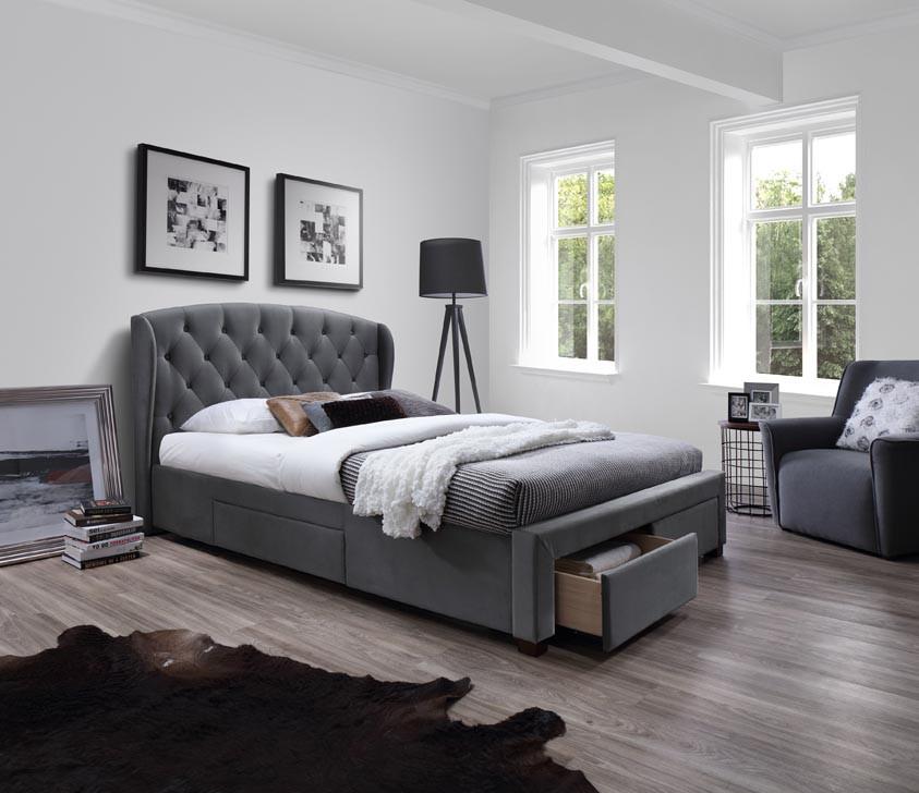 Ліжко двоспальне в спальню Польша Sabrina 160*200 Halmar