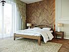 Ліжко двоспальне з натурального дерева в спальню змасиву бука Афіна 1 160х190 Лев, фото 2