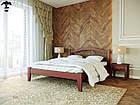 Ліжко двоспальне з натурального дерева в спальню змасиву бука Афіна 1 160х190 Лев, фото 3