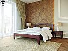 Ліжко двоспальне з натурального дерева в спальню змасиву бука Афіна 1 160х190 Лев, фото 4