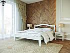 Ліжко двоспальне з натурального дерева в спальню змасиву бука Афіна 1 160х190 Лев, фото 5