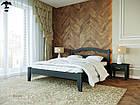 Ліжко двоспальне з натурального дерева в спальню змасиву бука Афіна 1 160х190 Лев, фото 6