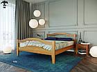 Ліжко двоспальне з натурального дерева в спальню змасиву бука Афіна 2 160х190 Лев, фото 2
