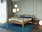 Ліжко двоспальне з натурального дерева в спальню змасиву бука Афіна 2 160х190 Лев, фото 3