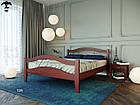 Ліжко двоспальне з натурального дерева в спальню змасиву бука Афіна 2 160х190 Лев, фото 4