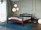 Ліжко двоспальне з натурального дерева в спальню змасиву бука Афіна 2 160х190 Лев, фото 5