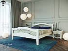 Ліжко двоспальне з натурального дерева в спальню змасиву бука Афіна 2 160х190 Лев, фото 6
