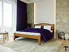 Ліжко двоспальне з натурального дерева в спальню змасиву бука Афіна нова 160х190 Лев, фото 2