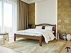 Ліжко двоспальне з натурального дерева в спальню змасиву бука Афіна нова 160х190 Лев, фото 3