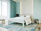 Ліжко двоспальне з натурального дерева в спальню змасиву бука Афіна нова 160х190 Лев, фото 6