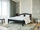 Ліжко двоспальне з натурального дерева в спальню змасиву бука Афіна нова 160х190 Лев, фото 7