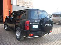 Защита заднего бампера Nissan Patrol (2001+)