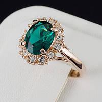 Впечатляющее кольцо с кристаллами Swarovski в позолоте 0249
