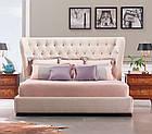 Ліжко з м'якою спинкою Ванесса (200 х 200) КІМ, фото 2