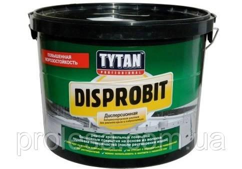 Битумно-каучуковая дисперсионная мастика Tytan Disprobit для ремонта кровли и гидроизоляции (10кг)