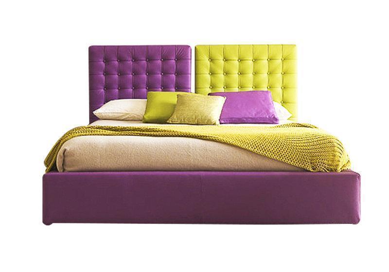 Ліжко з м'якою спинкою з підйомним механізмом Касабланка (200 х 200) КІМ