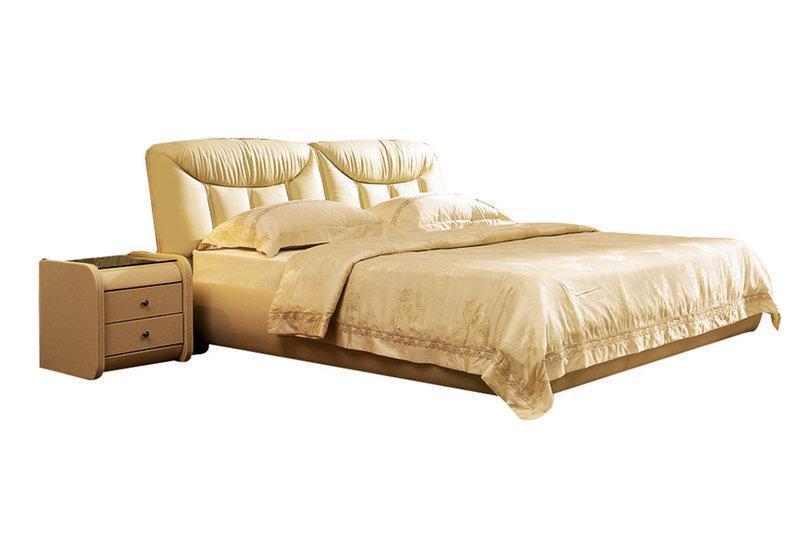 Ліжко з м'якою спинкою з підйомним механізмом Буржуа (160 х 200) КІМ