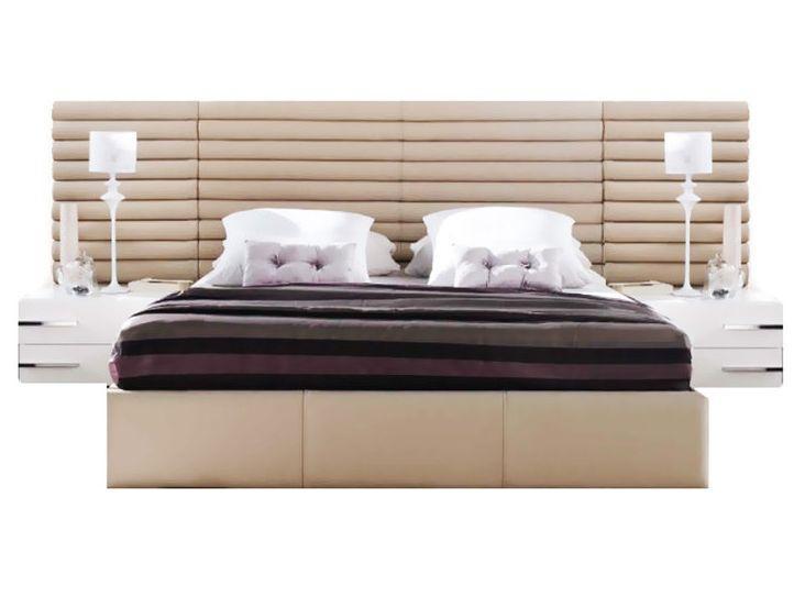 Ліжко з м'якою спинкою з підйомним механізмом Бруклін (200 х 200) КІМ