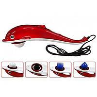 Масажер великий для тіла Dolphin 0521 з інфрачервоною лампою, червоний, від мережі, режим вібраційного масажу