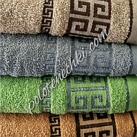 "Махровое лицевое полотенце ""Меандр 2"", фото 1"