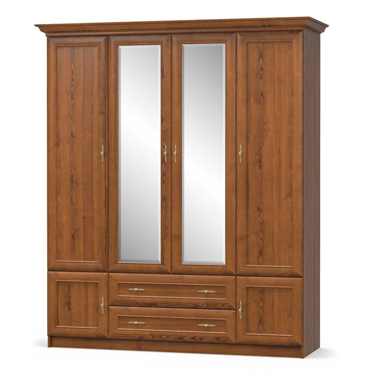 Шафа в спальню з ДСП 4Д2Ш Даллас Мебель Сервіс