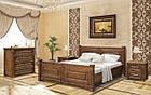 Ліжко двоспальне в спальню дерев'яне 1600 Міленіум Мебель Сервіс, фото 2