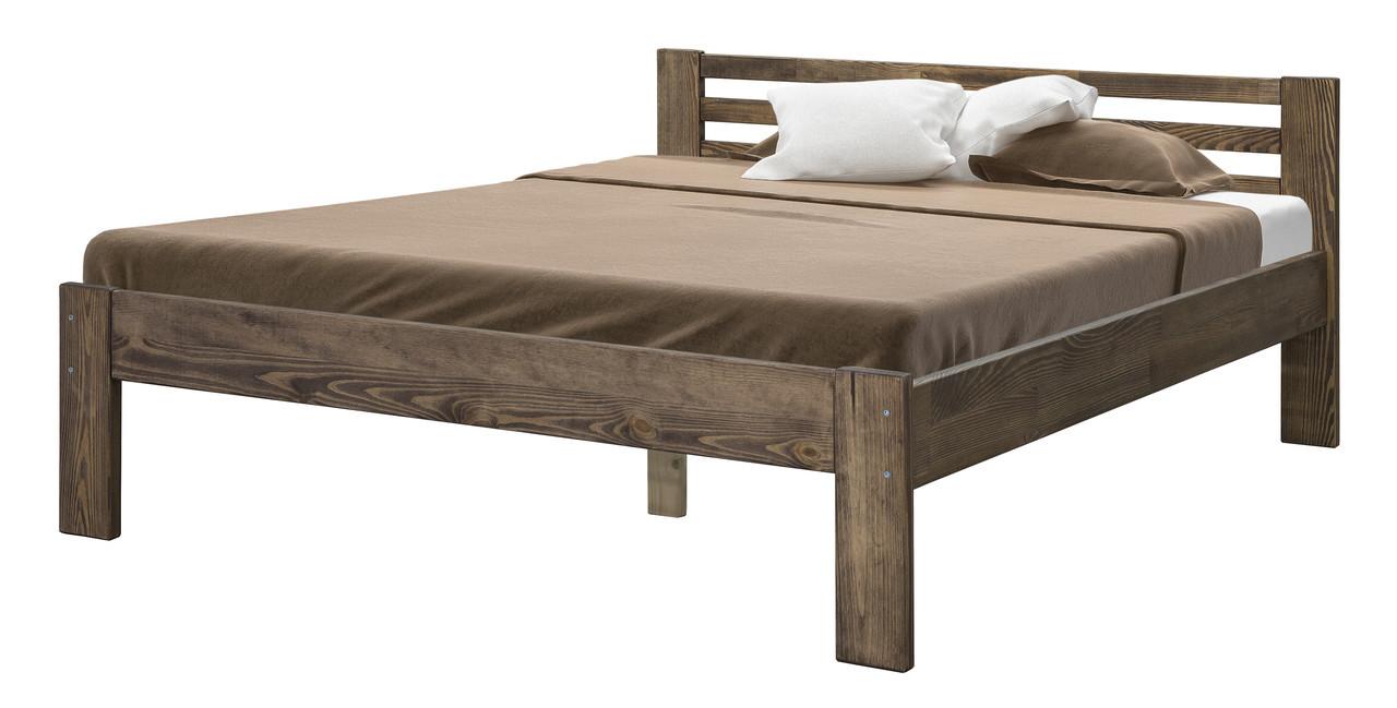 Ліжко двоспальне в спальню з дерева 1600 Мебель Сервіс