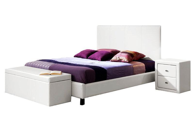 Ліжко з м'якою спинкою Анкона (200 х 200) КІМ