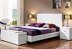 Ліжко з м'якою спинкою з підйомним механізмом Анкона (160 х 200) КІМ, фото 2