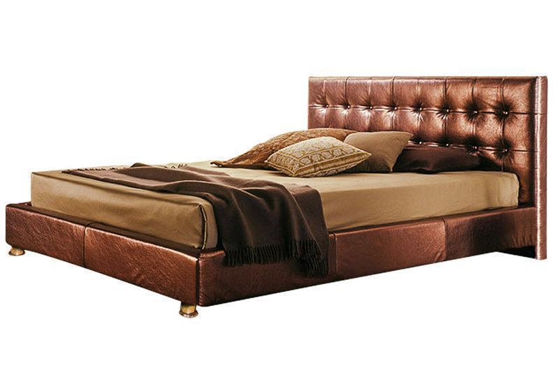 Ліжко з м'якою спинкою Тіана (200 х 200) КІМ