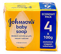 Johnson's Baby мыло медовое, 4 х 100 г