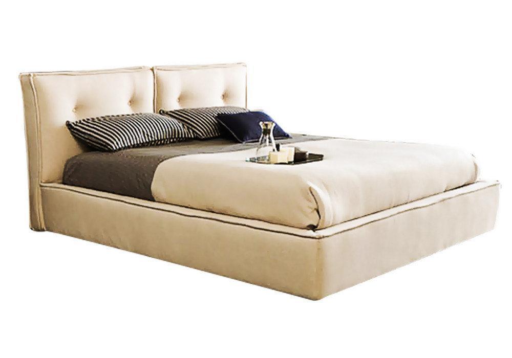 Ліжко з м'якою спинкою з підйомним механізмом Каліпсо (200 х 200) КІМ
