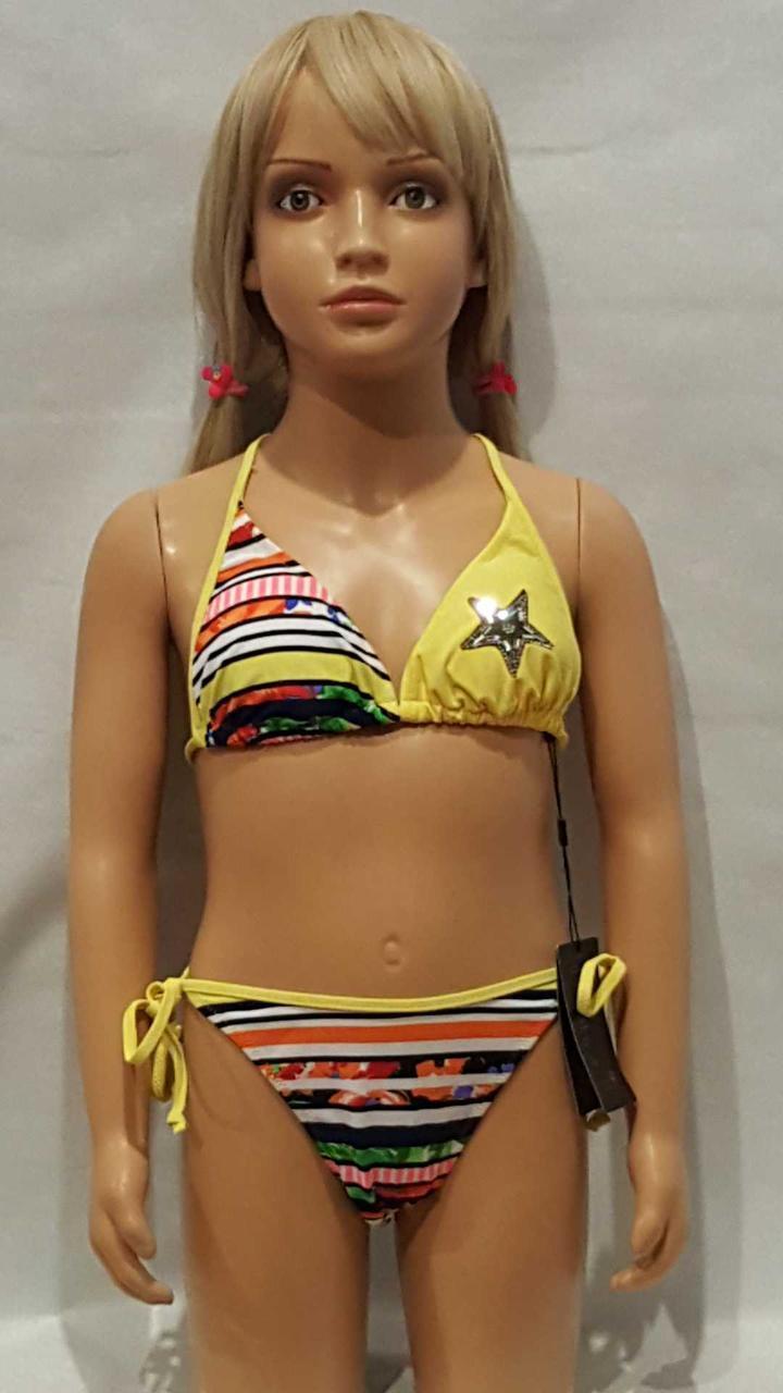 Купальник для подростков RIVAGE LINE 1053  Звезда желтый  (есть 6/8/10/12 размеры)