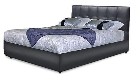 Ліжко з м'якою спинкою з підйомним механізмом Атланта (180 х 200) КІМ