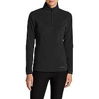 Кофта Eddie Bauer Womens Quest 1/4-Zip Pullover S Черная (0313BK-S)