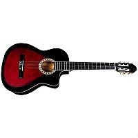 Акустическая гитара BANDES CG 851С RDS 39 дюймов с металл струнами с вырезом