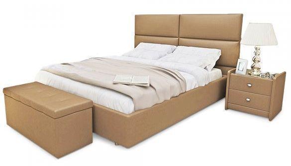 Ліжко з м'якою спинкою Денвер (200 х 200) КІМ