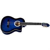 Акустическая  гитара BANDES 851С BLS 39 дюймов с металл струнами с вырезом